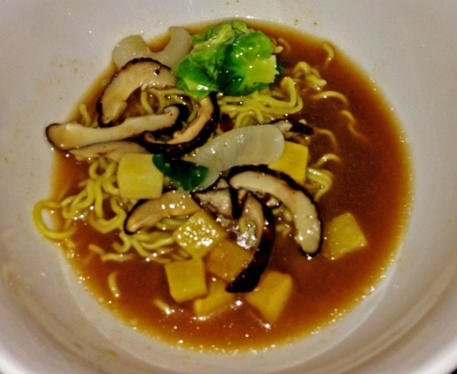 Golden Miso with ramen noodles and seasonal vegetables