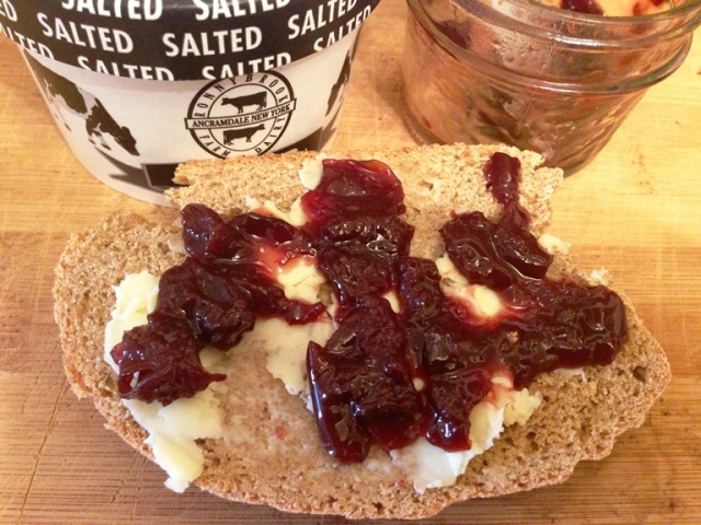Homemade Brown Bread with Local Butter & Cherry Preserves