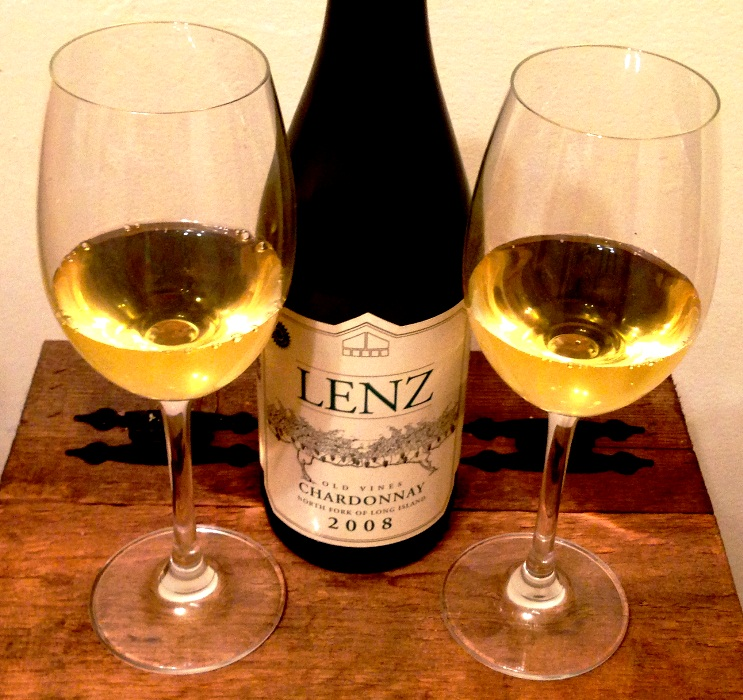 Perfect Scallops deserve a perfect pairing: Lenz 2008 Old Vines Chardonnay