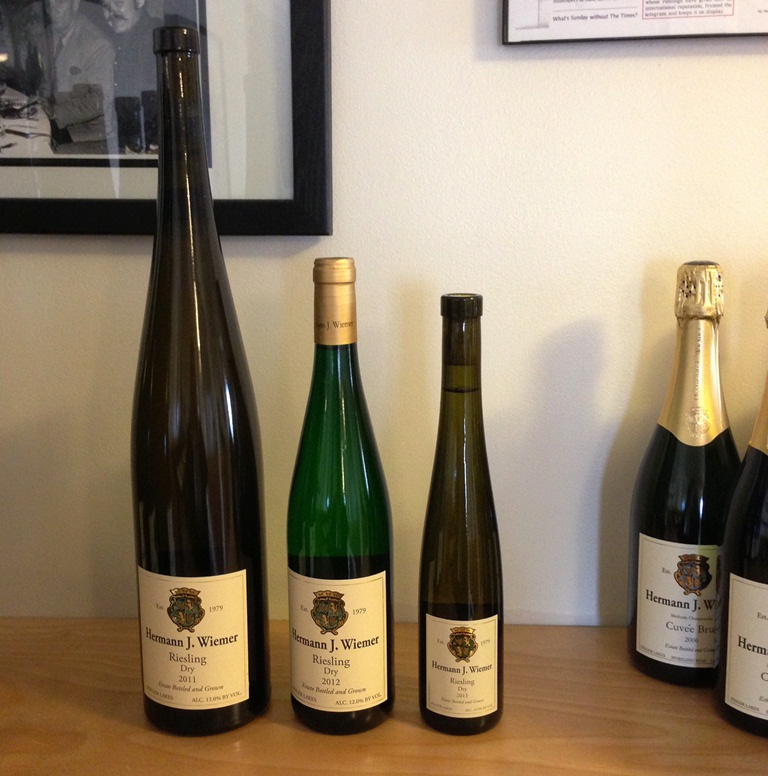Not sure how much Riesling you want? Luckily Hermann J. Weimer offers a selection