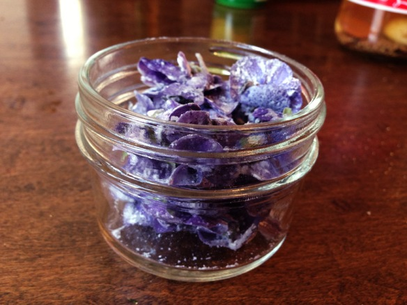 Make sure not to overfill your container--you don't want to damage the delicate petals!