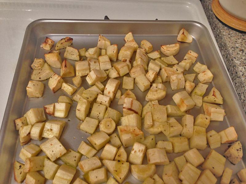 Roast Parsnips & Apples