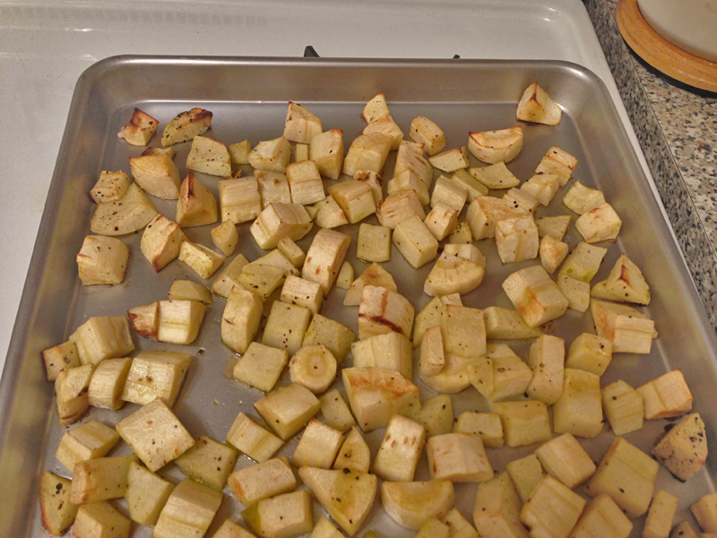 Roast Parsnips & Apples