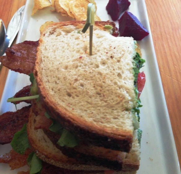 Classic BLT - Maple Glazed Bacon, Lettuce, Tomato, Guacamole, Tomato Jam, Grilled Sourdough