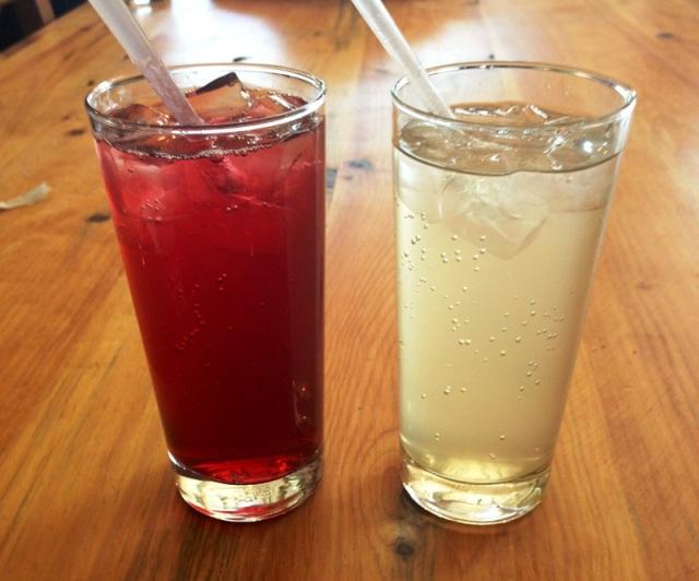Hibiscus and Grapefruit sodas--yum!