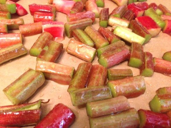 Honey Roasted Rhubarb Salad (1)