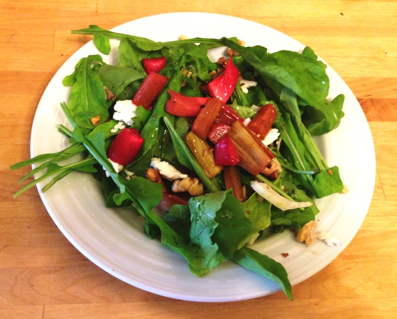 Honey Roasted Rhubarb Salad (3)