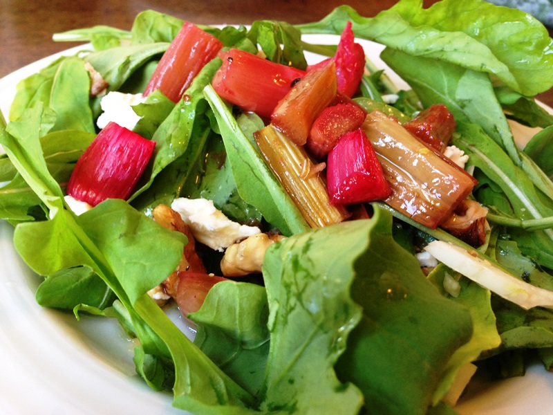Honey Roasted Rhubarb Salad (4)