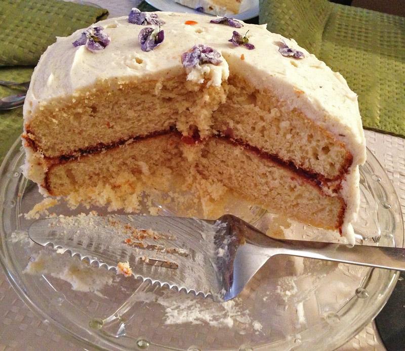 Lemon Violet Cake 1