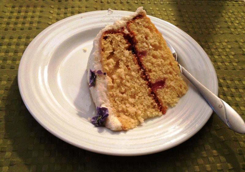 Lemon Violet Cake