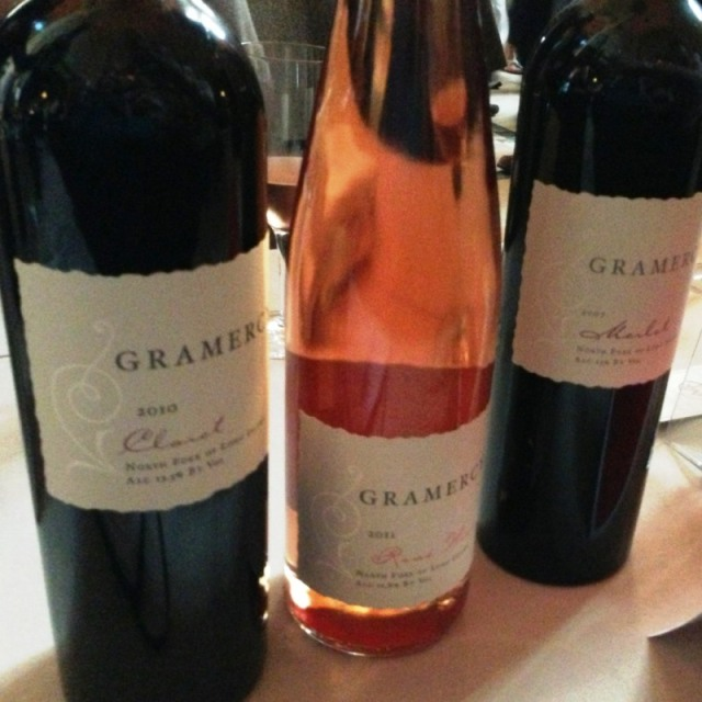 A sampling from Gramercy Vineyards