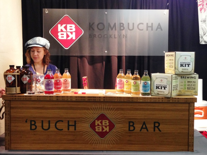 Kombucha Brooklyn sampling and selling kits.
