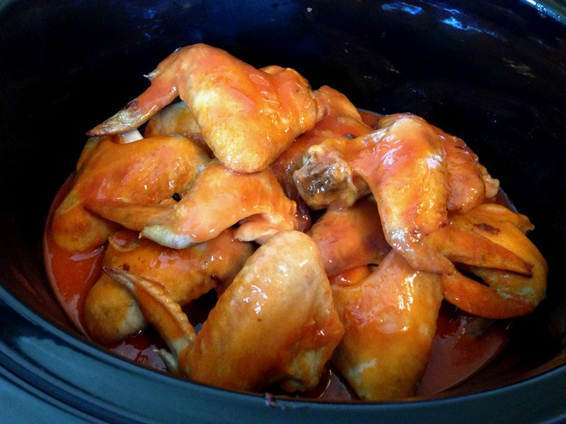 Crockpot Chicken Wings - Cook