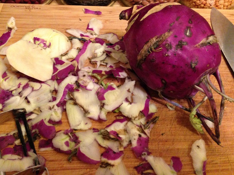 Peeled Kohlrabi