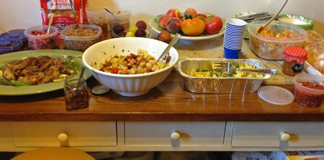 Our decedent dinner spread
