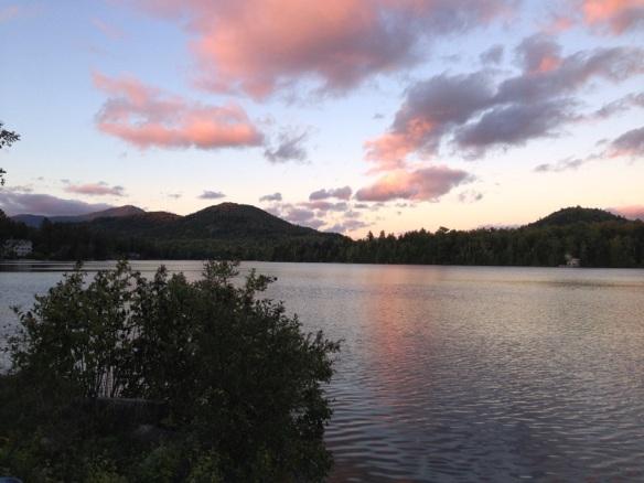 Sunset over Mirror Lake, Lake Placid