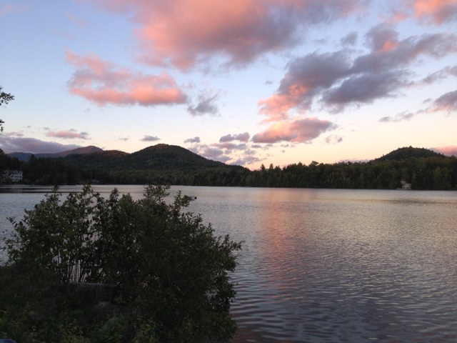 Sunset over Mirror Lake, Lake Placid