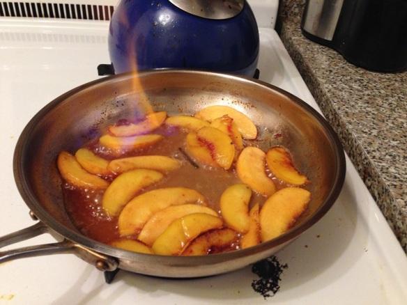 Flambéd Rum Peaches (1)