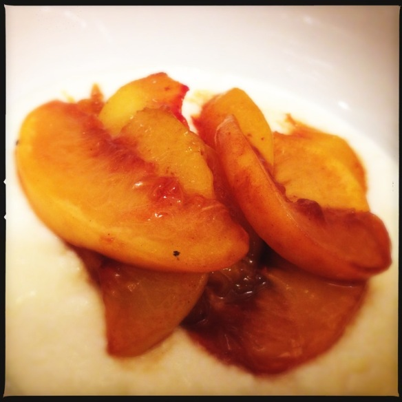 Flambed Rum Peaches