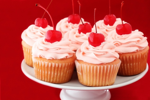 Cherry Vanilla Cupcake by Gimme Some Oven