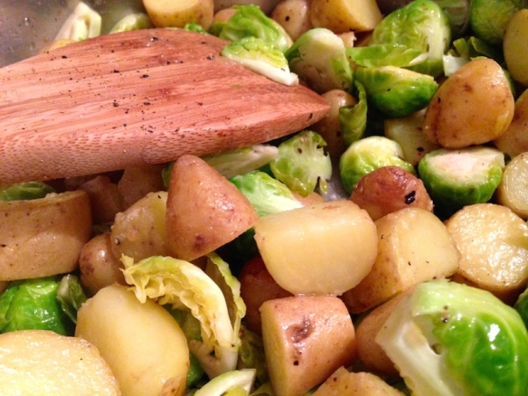 Brussel Sprouts and Fingerlings