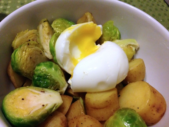 Brussels Sprouts and Fingerling Salad