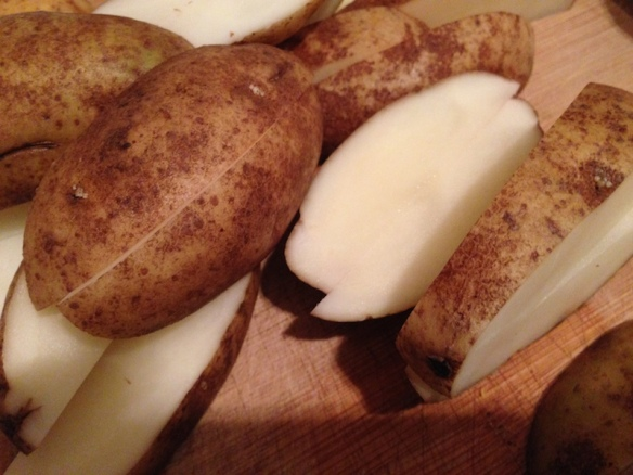 Slicing Potatoes for Fries
