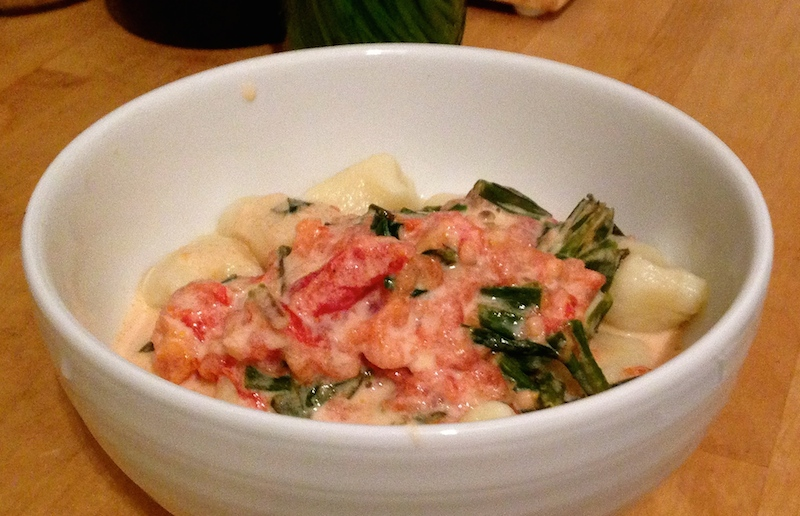 Gnocchi in Tomato-Ramp Cream