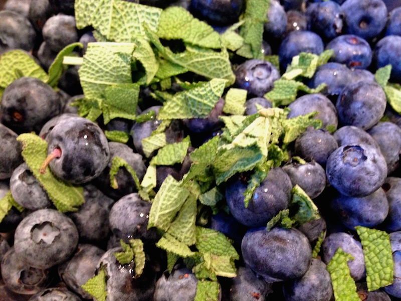Makings of Blueberry Sage Syrup