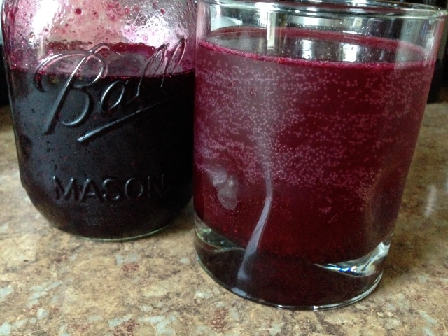 Lemon Blueberry Soda ready for sipping