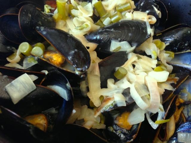 Mussels in White Wine Cream