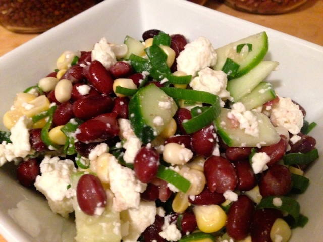 Black Bean and Corn Salad with Feta