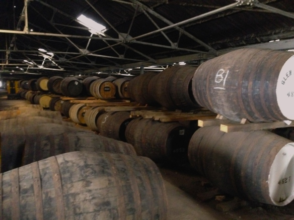 So much whisky! We visited three distilleries while traveling and this was by far the most informative and least rehearsed ~ Glen Moray, Speyside Region