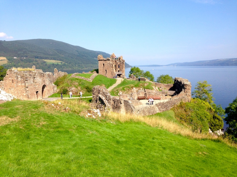 We visited a castle every other day. Edinburgh was staged; the Brodie Castle had beautiful grounds, Inverness Castle was restricted...but Urquart was there, just as time left it ~ Urquart Castle, Loch Ness
