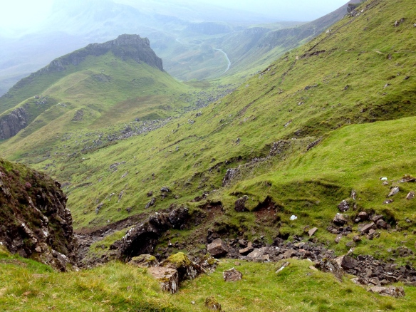 The Isle of Skye was beyond words. These photos don't do it justice. The Quirang was one of our favorite walks. The path wove through the mountains and valleys forever, eventually bringing us to a breathtaking clifftop ~ Quiraing Walk, Isle of Skye