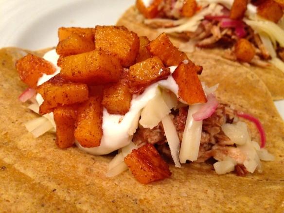 Cider Pork & Squash Tacos