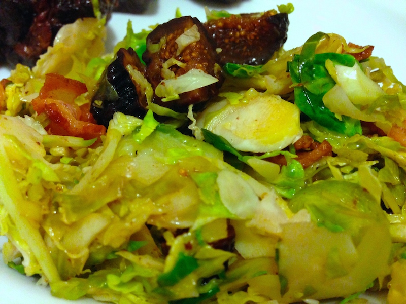 Bacon Fig Brussels Slaw
