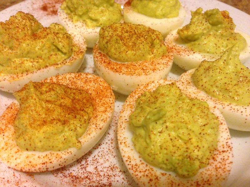 Avocado Deviled Eggs 2