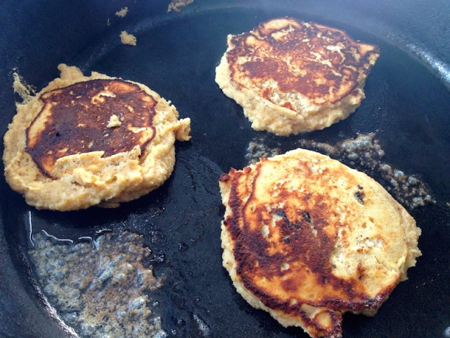 Cooking Coconut Flour Pancakes