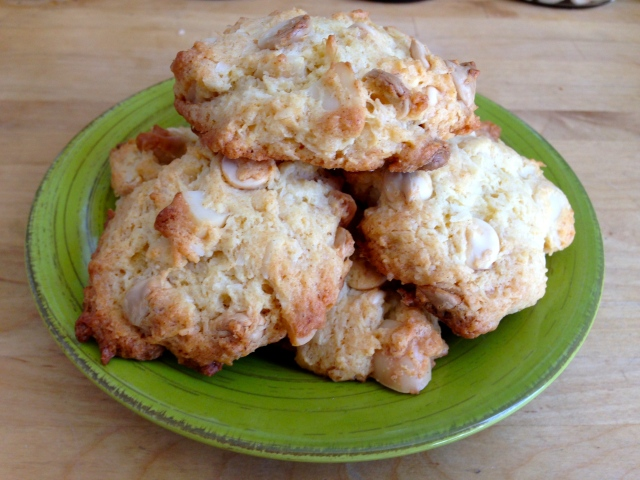 Coconut and Macadamia Nut White Chocolate Cookies
